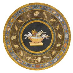 An Early Victorian cream-painted and parcel-gilt Italian pietre dure marble top center table circa 1840, the top attributed to J. Darmanin & Sons of Malta | Lot | Sotheby's