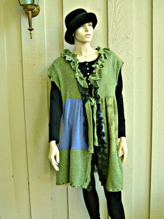 Reconstructed Sweater Wool and Cashmere Vest - JacketsbyJahne on Etsy