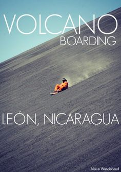Have you ever been volcano boarding? If not, put it on your to-do list ASAP! Dream Big Travel More // Dream Big Live Tiny // Things to Do in Nicaragua // Places to See in Nicaragua // Must Do in Nicaragua Honduras, Belize, Costa Rica, Managua, Oh The Places You'll Go, Places To Travel, Travel Destinations, Ometepe, Bahamas