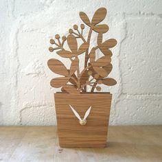 Houseplant Desktop Clock  Medium