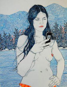 made by: Hope Gangloff , Ballpoint pen illustration