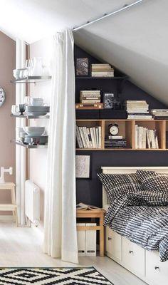 tiny bedroom ideas blue bedroom in kitchen