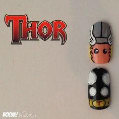 What!? Thor nail art!?!?!!!!