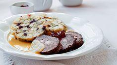 Tagliata s omáčkou ze zeleného pepře Steak, French Toast, Muffin, Fresh, Cookies, Breakfast, Recipes, Cooking, Crack Crackers