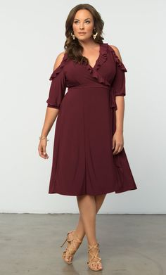 Check out the deal on Barcelona Wrap Dress at Kiyonna Clothing
