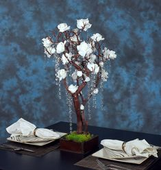Natural Manzanita Tree Wedding Centerpiece With Moss by MazuriYako