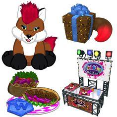 #Webkinz Rockerz Fox Sneak Peek.  Pet special item is Autograph Signing Station.  Pet special food is Foxy Falafels.  Release date is March 2013.