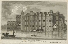 General view of Baynard's Castle, on the River Thames, London. Published in March 1790.