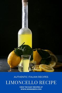 Make this famous Italian drink with our recipe for homemade limoncello. Simple and delicious! Limoncello Recipe, Homemade Limoncello, Yummy Drinks, Yummy Food, Delicious Recipes, Tasty, Healthy Recipes, How To Make Homemade, Food To Make