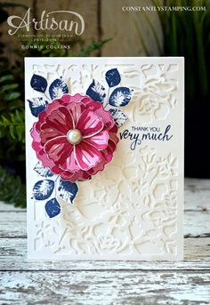 Detailed Floral Background card designed by Stampin' Up! Artisan Design Team member, Connie Collins for Global Design Project.#GDP041