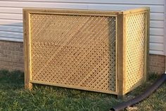 Lattice screen to hide all the unsightly stuff being stored in the yard.