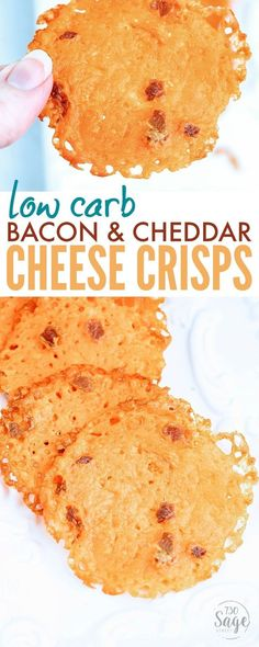 Low Carb Bacon Cheddar Cheese Crisps make a great quick & easy snack. Crisp like chips, but made of cheese so they are a good fit for ketogenic diets. And to be honest, bacon and cheese never fails to taste good - as you'll see if you try this keto snack!