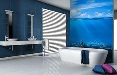 papier peint salle de bain avec image sous-marine pour une évasion imaginaire