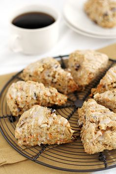Morning Glory Scones are chock full of flavor and a little bit of added healthy goodness. The perfect scones recipe to make for breakfast! Brunch Recipes, Bread Recipes, Breakfast Recipes, Cooking Recipes, Scone Recipes, Breakfast Scones, Breakfast Bake, Savory Scones, Biscuits