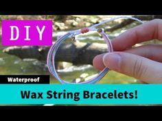 DIY Wax String Friendship Bracelets | Tutorial Inspired by Pura Vida Bracelets! - YouTube