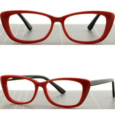 ee095d982ba Details about Large Women Cat Eye Acetate Frames Spring Hinges Prescription  Glasses Black Blue