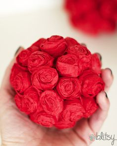DIY Mini rose pomander #blitsy #happinessiscreating