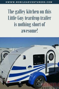 The Galley Kitchen On This Little Guy Teardrop Trailer Is Nothing Short Of Awesome My