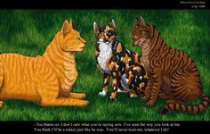 Brambleclaw chewing out Firestar