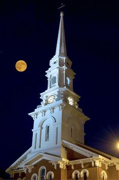 North Church Portsmouth,NH at night