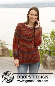 Sweater i rib fra Drops
