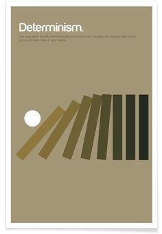 Determinism en Affiche premium par Genís Carreras | JUNIQE