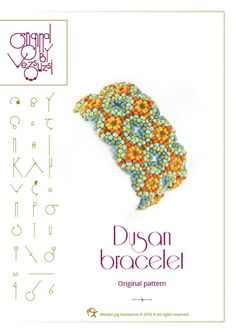 Beading tutorial / pattern Dusan bracelet. Beading instruction in PDF – for personal use only von beadsbyvezsuzsi auf Etsy https://www.etsy.com/de/listing/450193302/beading-tutorial-pattern-dusan-bracelet