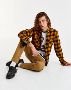 :Chequered shirt with pockets