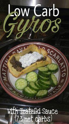 Instant Pot Gyros with Low Carb Pita Bread and Tzatziki Sauce | Keto Atkins Fathead Low Carb Primal GF SF Gluten Free Grain Free Greek Instapot