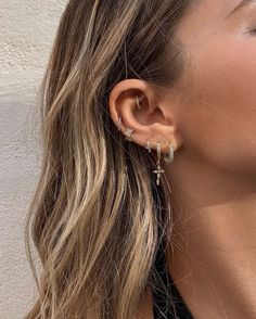 Silver Triple Hoop Illusion Earrings-Sterling Silver Multi Hoop Earrings-Hoop Ear Cuff Earrings-Hoop Spiral Earrings-One Piercing Earrings - Custom Jewelry Ideas Gold Bar Earrings, Moon Earrings, Cuff Earrings, Crystal Earrings, Ear Jewelry, Cute Jewelry, Body Jewelry, Jewelry Accessories, Jewellery