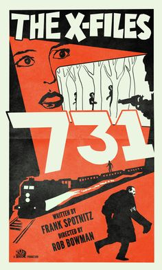 """731 - Episode 59. For this poster, I wanted a classic adventure/suspense feel. I found inspiration from this international poster for the Hitchcock film """"The Lady Vanishes"""" (which, like 731, takes place mostly on a train). I like the minimalism of this style juxtaposed to an episode jam-packed with action."""