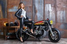Suzuki Inazuma 400 Cafe Racer by GiaMi Motorcycles #caferacergirl #motorcyclesgirls #chicasmoteras | caferacerpasion.com
