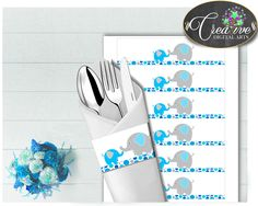 This is Baby shower aqua .... Go see it here http://snoopy-online.myshopify.com/products/baby-shower-aqua-blue-elephant-napkin-rings-printable-elephant-boy-theme-digital-file-jpg-pdf-instant-download-ebl01