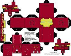 Iron Man Mark VII Cubeecraft by topduelist on deviantART