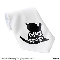 Check Meowt Funny Cat Tie