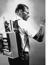 first insulin pump invented...I am amazed and grateful for technology, because this would just look ridiculous.