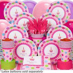 First Birthday Cupcake Theme from birthdayinabox.com