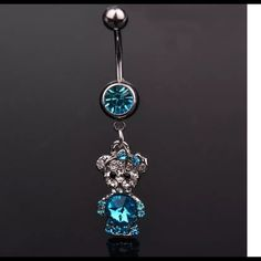 """❎$7 bundled❎. Gemstone Bear drop belly button ring Cute , new, Hello dear!  Just wanted to let you know i am taking 10% off bundles & giving you a FREE gift up to $10 value.    If you are just wanting one item, I do accept reasonable offers on most items.  Please use the OFFER"""" button.  NO TRADE !!!  Thanks for visiting!😊. I also have a buy 2 get 1 FREE Jewelry promotion going on.  Lmk which item you want free. Jewelry"""