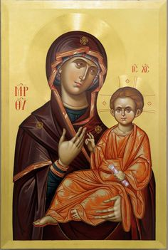 Religious Icons, Religious Art, Holy Quotes, Byzantine Art, Orthodox Christianity, Blessed Virgin Mary, Orthodox Icons, Madonna, Cathedral