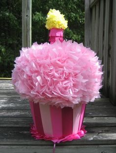 Yummy Cupcake Pinata Made To Order by MommyDo on Etsy, $46.00