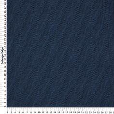 Fleece - Denim Stripe Fleece Fabric