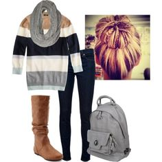 """""""Fall College Day"""" by allykay93 on Polyvore.   I will need this for Fall semester for sure!"""