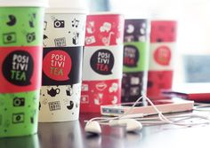 Packaging of the World: Creative Package Design Archive and Gallery: PositiviTea Concept Clever Packaging, Food Packaging Design, Beverage Packaging, Coffee Packaging, Bottle Packaging, Print Packaging, Packaging Design Inspiration, Chocolate Packaging, Wine Label Design