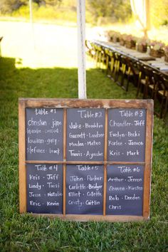 Maybe if we go with the chalkboard table numbers...