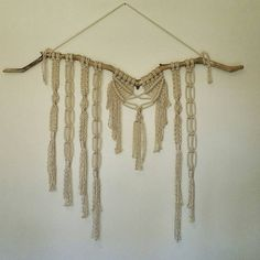 Macramè Wall Hanging- one of a kind! Perfect for yoga studio, wedding backdrop, above a bed or on any wall! by MossHoundDesigns on Etsy
