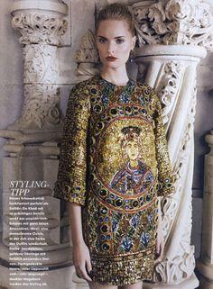 Dolce&Gabbana Fall Winter 2014, Elle Germany December 2013 -