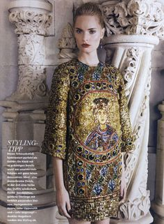 Dolce&Gabbana Fall Winter 2014, Elle Germany December 2013 -