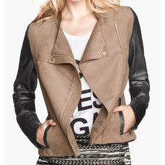 Fashionable Zipper Color Block Long Sleeves Faux Leather Coat For Women, AS THE PICTURE, L in Jackets & Coats | DressLily.com
