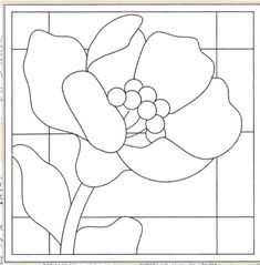 Glass Painting Patterns, Stained Glass Patterns Free, Stained Glass Quilt, Painting Templates, Stained Glass Flowers, Faux Stained Glass, Stained Glass Designs, Stained Glass Projects, Mosaic Patterns