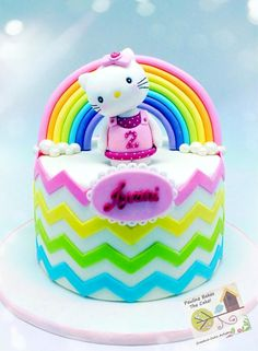 Over The Rainbow With Hello Kitty! - Cake by Pauline (Polly) Soo - Pauline Bakes The Cake!